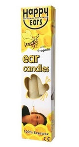Happy Ears Ear Candles 100% Beeswax Cone x2
