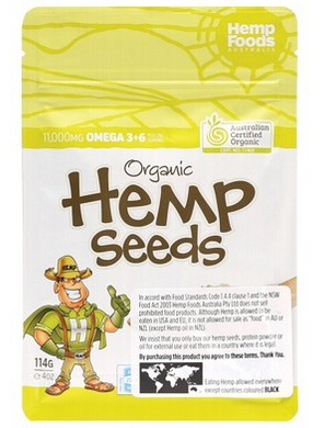 Hemp Food Australia - Hemp Seeds Hulled 114g