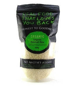Honest To Goodness Organic Basmati White Rice 650g