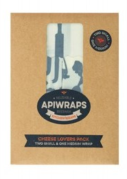 Apiwraps Reusable Beeswax Wraps - 2 x Small & 1 x Medium