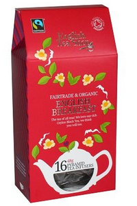 English Tea Shop Organic English Breakfast Pyramids 16pc