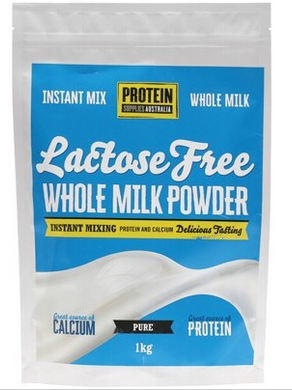 Protein Supplies Australia Whole Milk Powder Lactose Free - 1kg