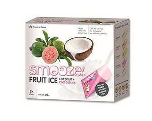 Smooze Fruit Ice Treats Pink Guava & Coconut 8x65ml