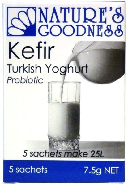 Nature's Goodness Kefir Turkish Yoghurt Probiotic 5 sachets 7.5g