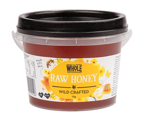 The Whole Foodies Wild Crafted Australian Honey Tub 1kg