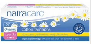 Natracare Super Plus Tampons (Non-Applicator) 20 pack