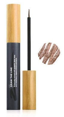 The Organic Skin Co Liquid Eyeliner - Draw The Line Brown