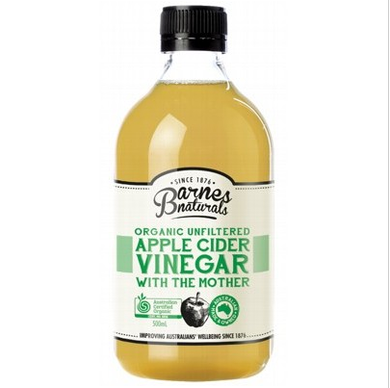 Barnes Naturals Organic Unfiltered Apple Cider Vinegar 500ml