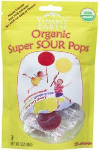 Yummy Earth Organic Lollipops Super Sour 14 Pack 85g
