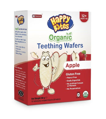 Happy Bites Organic Teething Wafers - Apple 50g