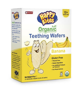 Happy Bites Organic Teething Wafers - Banana 50g