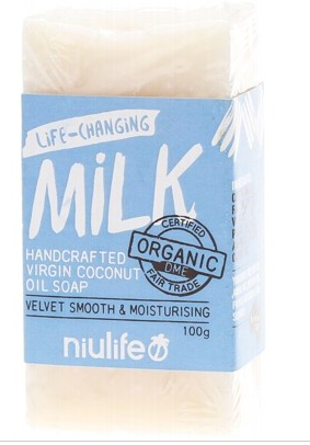 Niulife Organic Virgin Coconut Oil Soap - Milk (100g)