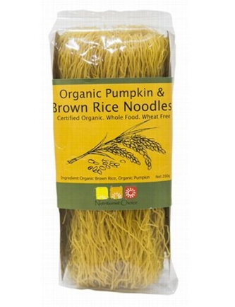 Nutritionist Choice Organic Pumpkin & Brown Rice Noodles 200g