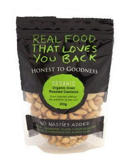 Honest To Goodness Organic Roasted Cashews 200g
