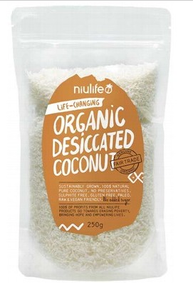 Niulife Organic Desiccated Coconut 250g
