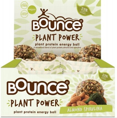 Bounce Energy Balls - Plant Power Almond Spirulina - 12x40g