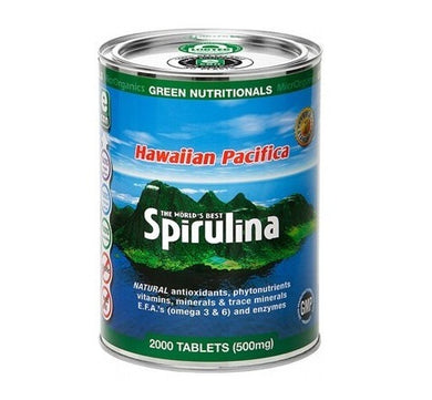 Green Nutritionals Spirulina (eCan Packaging) (500mg) 2000 Tabs