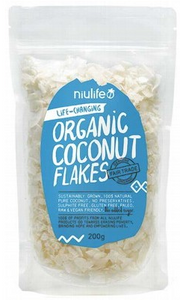 Niulife Organic Flaked Coconut 200g