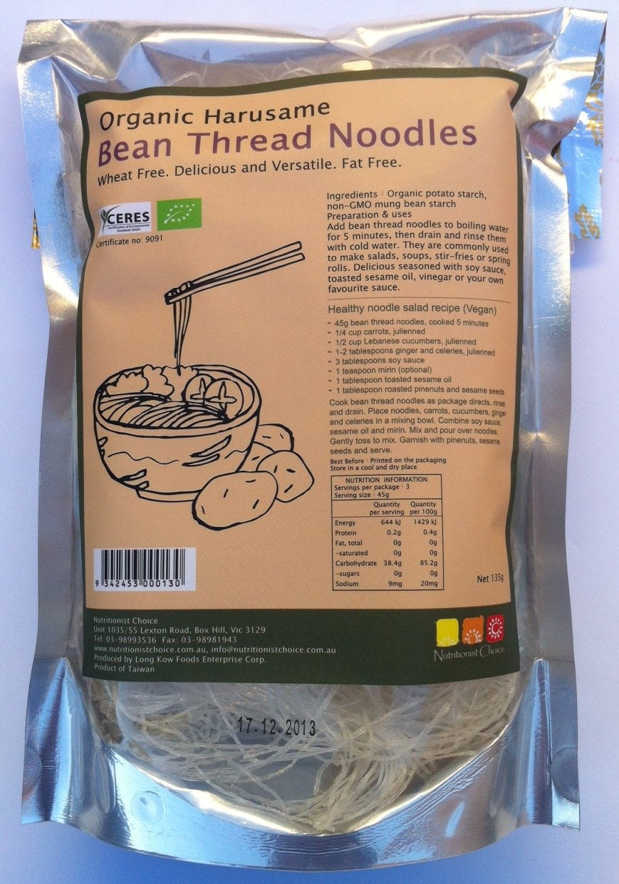Nutritionist Choice Organic Potato & Bean Thread Noodles 135g