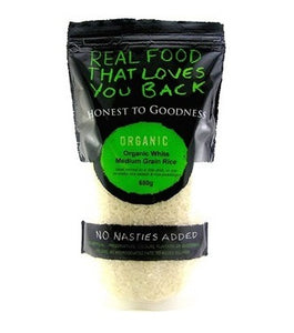 Honest To Goodness Organic Medium Grain White Rice 650g
