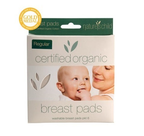 Nature's Child Organic Regular Washable Breast Pads 6 pack