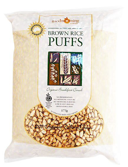 Good Morning Cereals Organic Brown Rice Puffs 175g