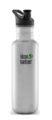 Klean Kanteen Bottle Brushed Stainless Sports Cap - 800ml