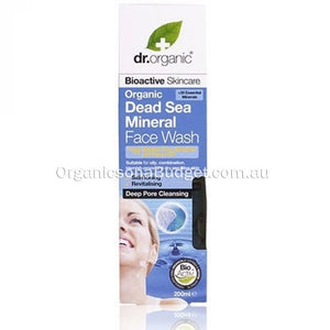 Dr Organic Dead Sea Minerals Face Wash 200ml