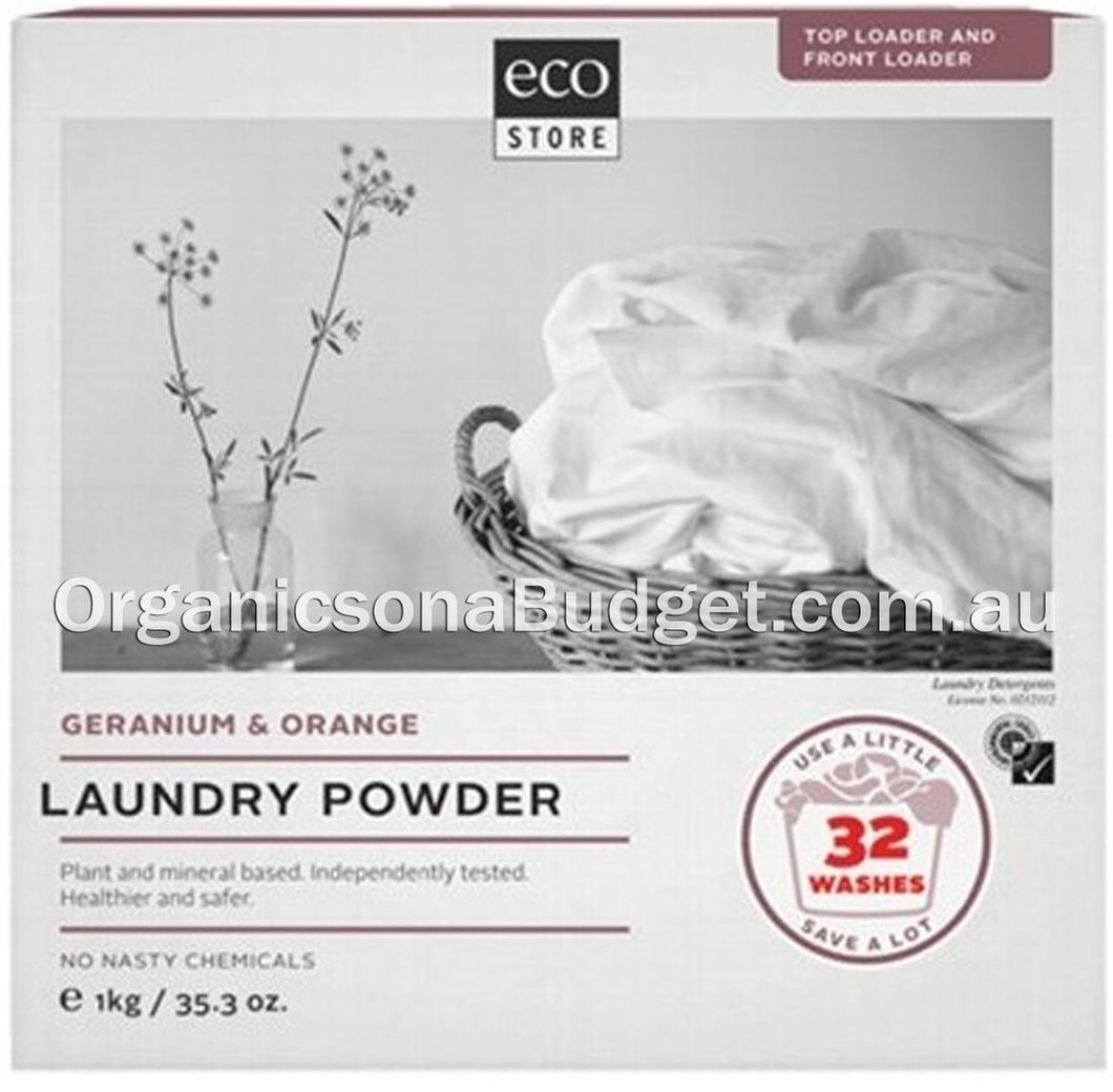Ecostore Laundry Powder Geranium & Orange 1kg