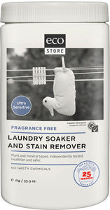 Ecostore Laundry Soaker & Stain Remover Fragrance Free 1kg