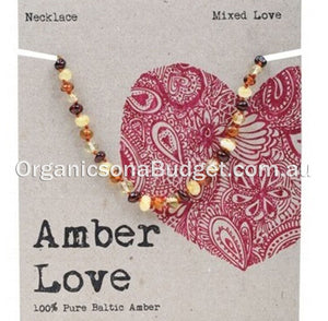 Amber Love Multi Amber Necklace 33cm (FREE SHIPPING)