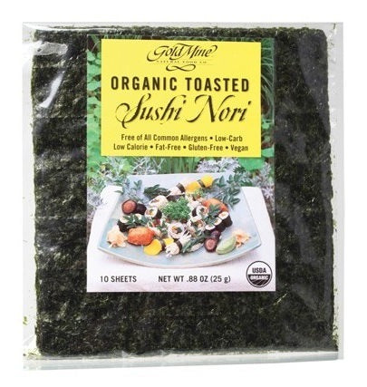 Gold Mine Sushi Nori Organic Toasted (10 Sheets) 25g