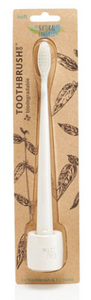 The Natural Family Co. Bio Toothbrush & Stand Soft - Ivory Desert