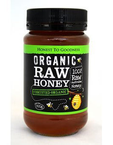 Honest To Goodness Organic Raw Honey 500g
