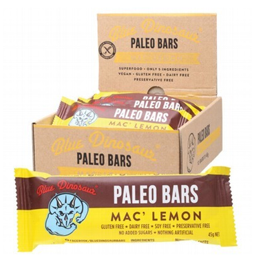 Blue Dinosaur Macadamia Lemon (Paleo Bar) 12x45g