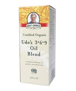 UDO'S Choice Organic Omega 3, 6, 9 Oil Blend 500ml