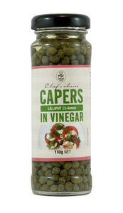 Chef's Choice Capers (Non Pareilles 5-7mm) In Vinegar 110g