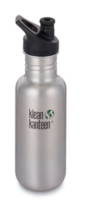 Klean Kanteen Bottle Brushed Stainless Sports Cap - 532ml