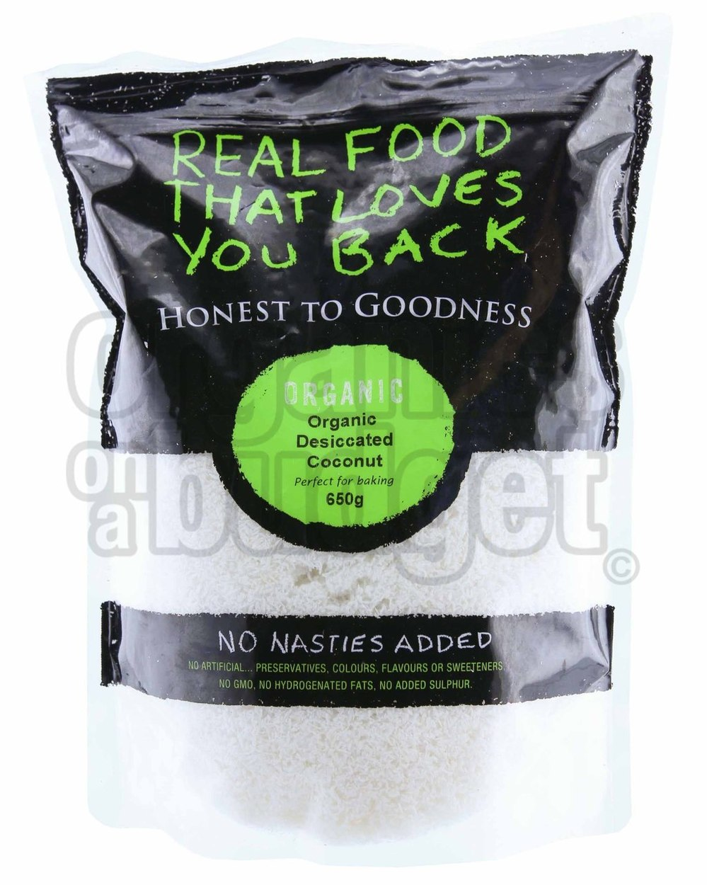 Honest To Goodness Organic Coconut Desiccated Fine 650g