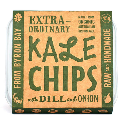 EXTRAORDINARY FOODS Kale Chips with Dill and Onion - 45g
