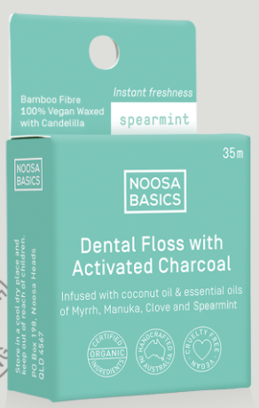 Noosa Basics Dental Floss with Activated Charcoal 35m