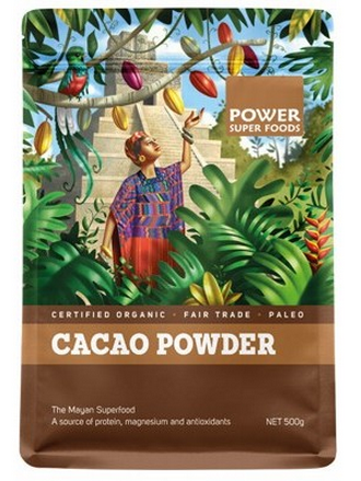 Power Super Foods Organic Cacao Powder 500g 25% OFF