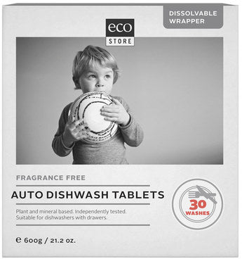 Ecostore Fragrance Free Auto Dishwash Tablets 30/600g