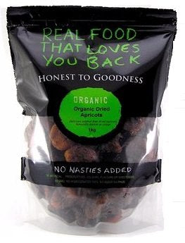 Honest To Goodness Organic Dried Apricots Sulphur Free 1kg