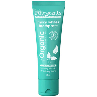 Little Innoscents Organic Milky Whites Fluoride Free Toothpaste 50ml