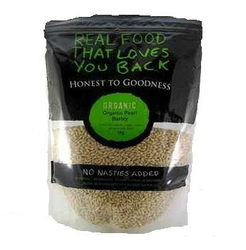Honest To Goodness Organic Pearled Barley 1kg