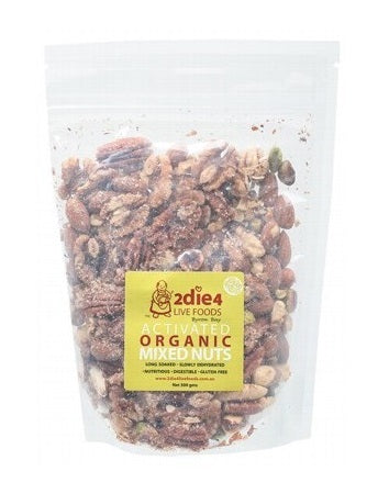 2die4 Live Foods Activated Organic Mixed Nuts 300g