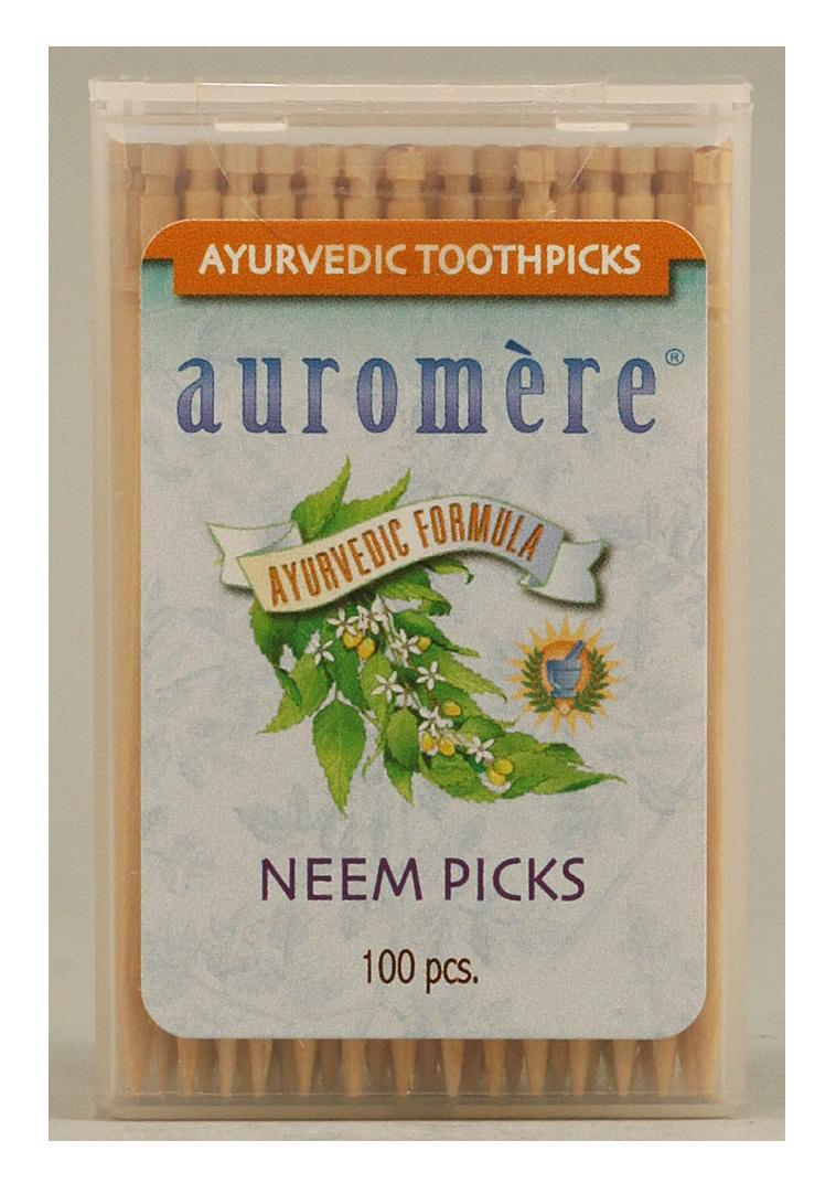 Auromere Neem Toothpicks (Peppermint) 100pcs (FREE SHIPPING)
