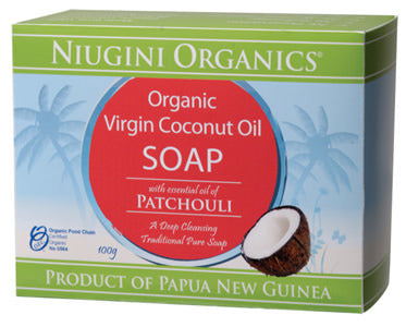 Niugini Organics Soap Coconut Oil & Patchouli 100g