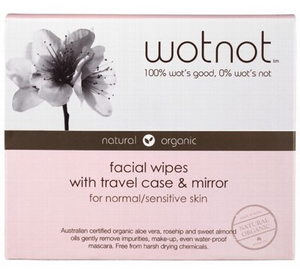 Wotnot Facial Wipes For Sensitive Skin Travel Case x 20